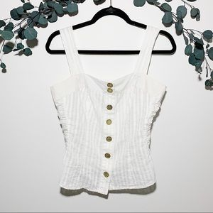 Baby Phat white top size Large